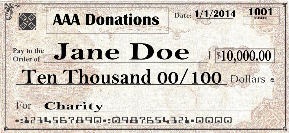 Custom Background Image Personalized Giant Check