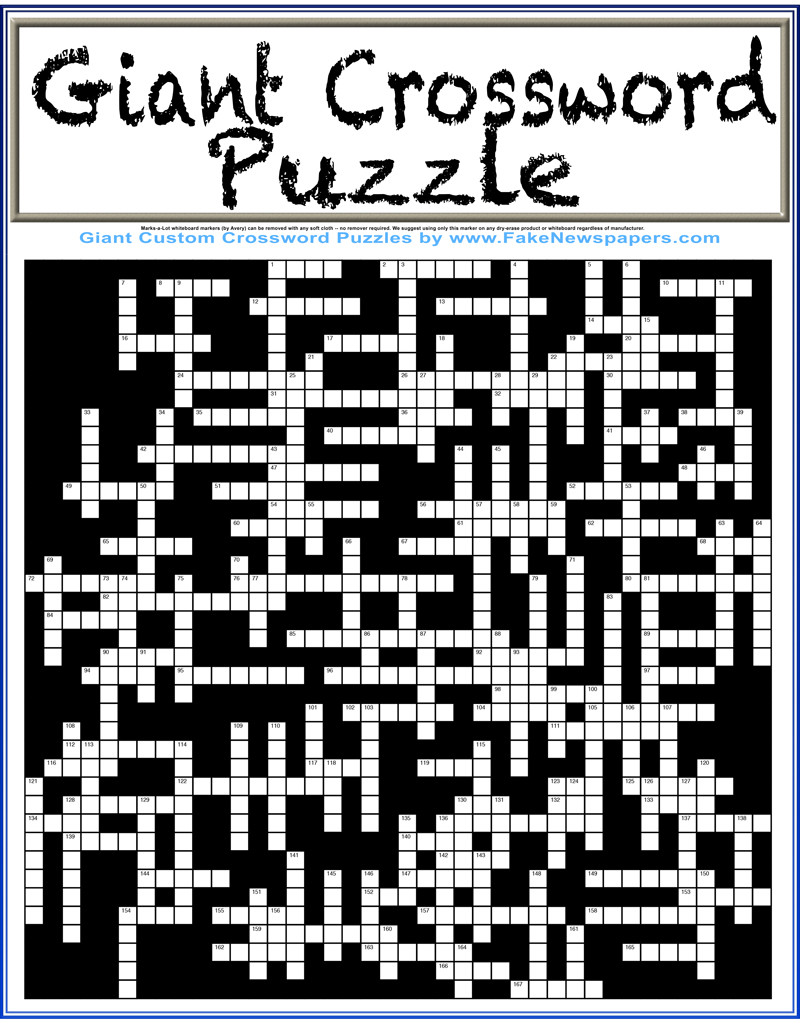 Create your own crossword.