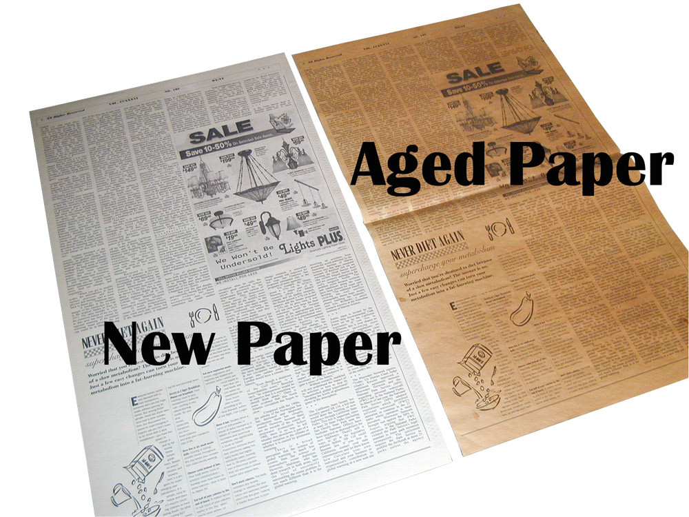This is the difference between Regular Newspaper and Aged Newspaper.