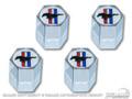 Tri-bar Logo Valve Cap (set Of 4)