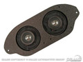 "67-70 Dual Dash Speakers (3"" Dual Cone)(w/out Ac Only)"