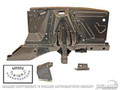 67-68 Shock Tower Apron Assembly, LH