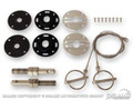 64-73 Hood Pin Set, Billet and Stainless Steel