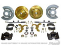 "Disc Brake Conversion Kit - v8, Hi-po Slotted Rotors, Single Piston Calipers - will Not Fit Original 14""x5"" Standard Steel Rims"