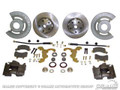 64-69 Mustang Disc Brake Conversion Kit with Single Piston Calipers, V8