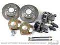 64-73 Mustang Rear Disc Brake Conversion Kit, Drilled/Slotted Rotors