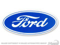 "3 1/2"" Ford Blue Oval Decal"
