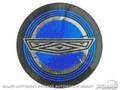 Mustang Wire Wheel Blue Center Decal