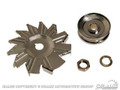 65-73 Alternator Pulley and Fan, Chrome