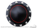 64-73 Billet Fuel Cap (black, Plain Face)