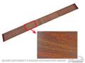68 Overhead Console Insert, Wood Grain