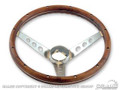 64-73 Wood Steering Wheel, 13-1/2""