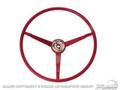 66 Steering Wheel, Dark Red