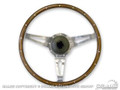 65-73 Shelby Wood/Aluminum Steering Wheel, 15 Inch, 9 Bolt