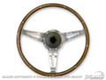 64-73 Mustang Wood and Aluminum Steering Wheel with GM Spline, 15 Inch