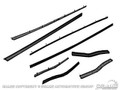 65-66 Fastback Economy Window Channel Strip Set