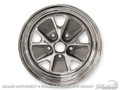 65 Styled Steel Wheel - 14x5 Chrome Rim, Charcoal Paint Center