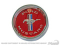 65-66 Styled Steel Hub Cap (red)