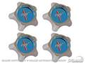 67 Styled Steel Hub Caps (blue, Original Design Set Of 4)