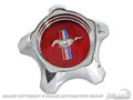 67 Styled Steel Hub Cap, Red