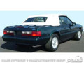 83-90 Convertible Top, Black, Plastic Window