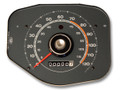 69-70 Speedometer, no Tachometer, Grey