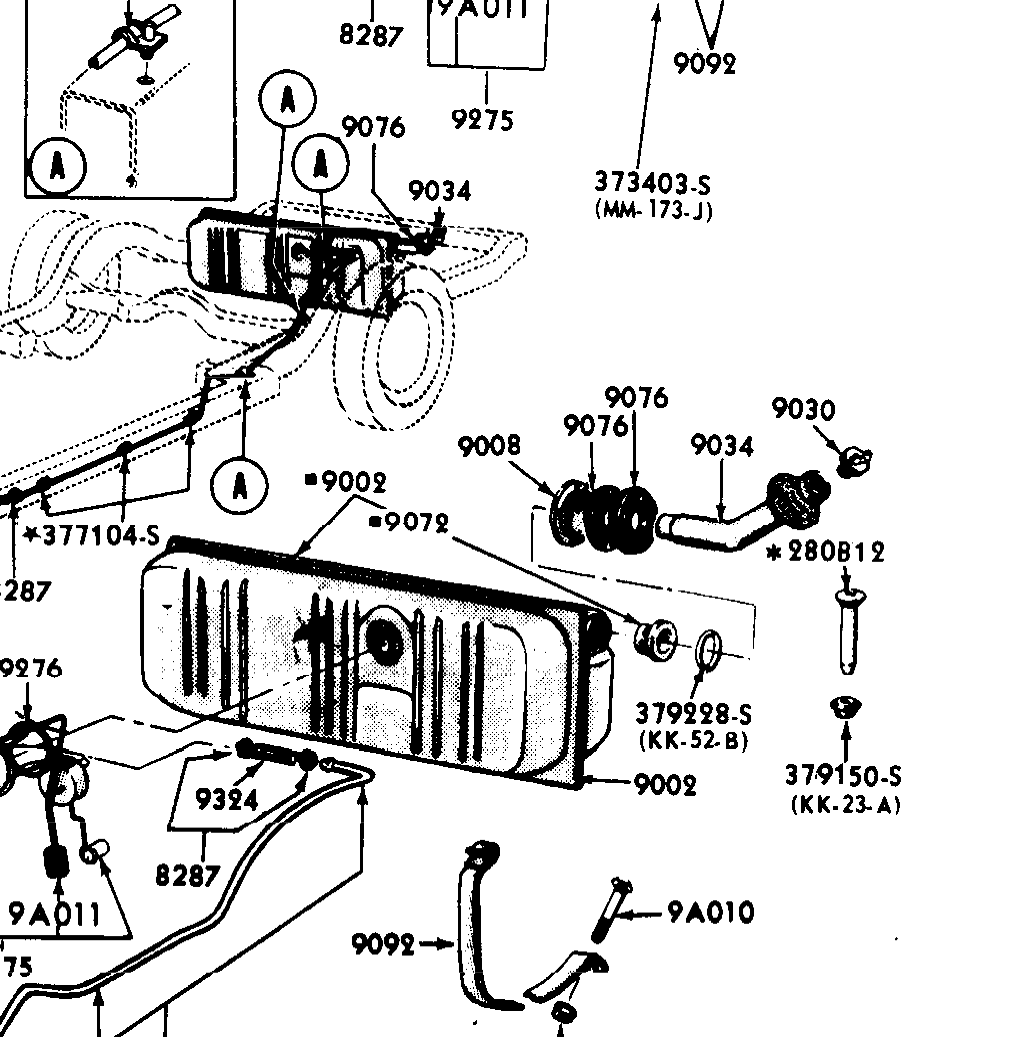 1965 66 Ford Galaxie Ltd Fuel Filler Neck Seal Wiring Diagram Larger More Photos