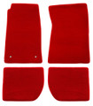 65-73 Mustang Carpeted Floor Mats, Coupe/Fastback, Red