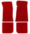 65-73 Mustang Carpeted Floor Mats, Convertible, Red