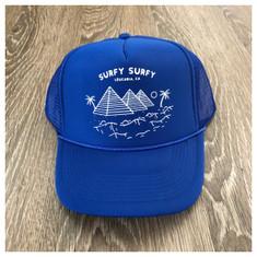 Surfy Pyramids trucker hat *blue*
