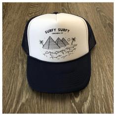 Surfy Pyramids trucker hat *dark blue/white foam*