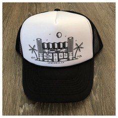 974 Surfy trucker hat *white/black*