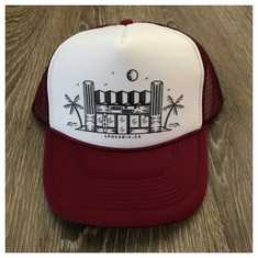974 Surfy Trucker hat *maroon/white*