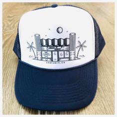 974 Surfy Trucker Hat *dark blue/white*