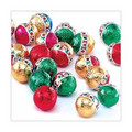 Foil Chocolate Christmas Balls 8 oz bag