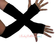 Black Fingerless Arm Warmers