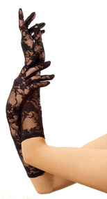 Black Lace Long Gloves