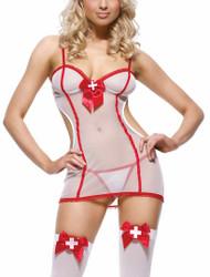 Sheer Night Shift Nurse Set Costume