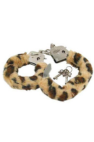 Leopard Faux Fur Roleplay Handcuffs
