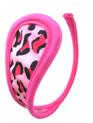 Pink Leopard C String Invisible Thong Panty