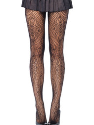Floral Diamond Fishnet Patterned Pantyhose Tights