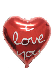 18¨I Love You Red Message Metallic Foil Stick Handle Balloon