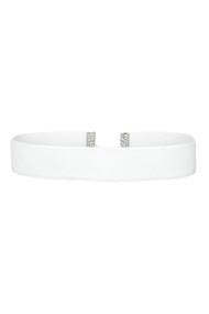 White Velvet Choker Necklace