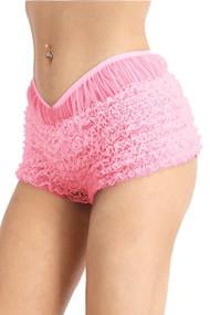 Baby Pink Rumba Retro Ruffle Boyshort Bloomer Panty