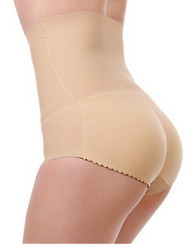 2 in 1 Insta Booty Laser Cut High Waist Trimmer Buttocks Enhancing Padded Seamless Panties