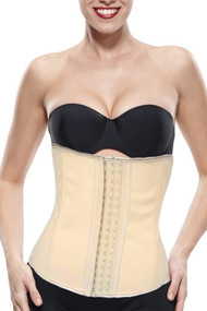Skintone Nude Latex Steel Boned Waist Training Corset