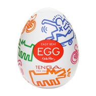 TENGA X Keith Haring Signature Egg Silicon Male Masturbator - Street