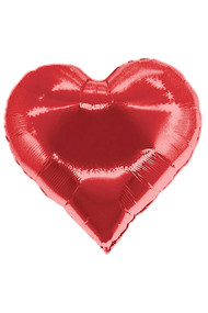 20¨ Red Holographic Sparkle Heart Foil Mylar Balloon