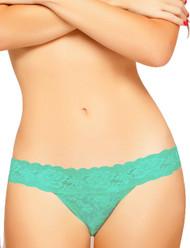 Mint Lace Seduction Low Rise Thong Panty