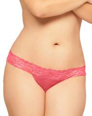 Pink Lace Seduction Low Rise Thong Panty Plus Size